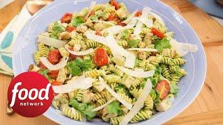 How to Make Marcela's Cilantro Pesto Pasta Salad | Food Network