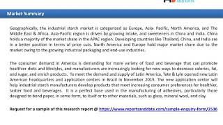 industrial starch market Regional Analysis, Key Players and Forecasts