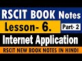 "RSCIT Book Lesson- 6. (Internet Application ""इंटरनेट के अनुप्रयोग"") Notes In Hindi 2019 (Part- 2)"