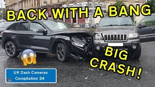UK Dash Cameras - Compilation 34 - 2019 Bad Drivers, Crashes + Close Calls