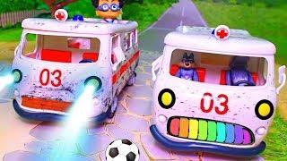 Видео с игрушками для детей на русском языке - Подарок! Самые новые игрушечные МУЛЬТИКИ ПРО МАШИНКИ