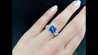Simple Beaded Ring..DIY Beaded Ring