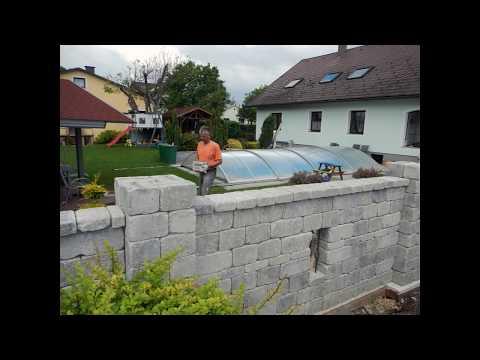 Betonsteinmauer selber machen / bauen - Steinmauer Anleitung - Weissenböck