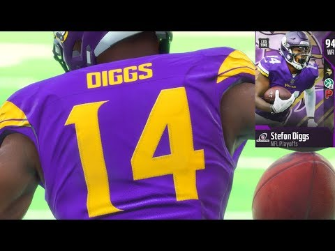 LIMITED EDITION 2018 NFL PLAYOFFS Stefon Diggs PULL! AND GAMEPLAY!  Madden 18 Ultimate Team