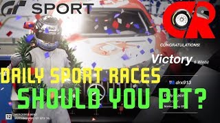 Gran Turismo Sport - Should you pit in the Daily sports race or conserve?