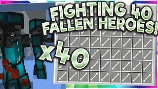 FIGHTING 40 FALLEN HEROES!! 20+ GKIT GEMS!! - Cosmicpvp | Factions | Ice Planet | EP:10