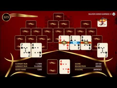 Towers Tri Peaks Classic Pyramid Solitaire