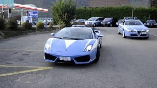 preview picture of video 'Lamborghini Gallardo policecar in Hotel Stans-Süd'
