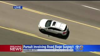 Los Angeles Police Chase Ends In Spin Out (April 12, 2017)