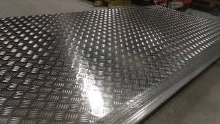 Алюминий листовой рифленый и гладкий от 0.5 до 5 мм. Резка. Доставка по РБ. от компании Implast - видео