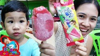 น้องบีม | แข่งกินไอติมกับแม่ แพดเดิลป๊อป แตงโมหวานเย็น สตรอเบอร์รี่ Ice Cream