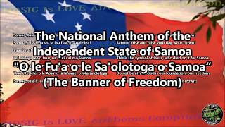 Samoa National Anthem with music, vocal and lyrics Samoan w/English Translation