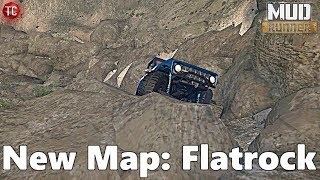 SpinTires MudRunner: NEW MAP! Flatrock (ROCK CRAWLING MAP)