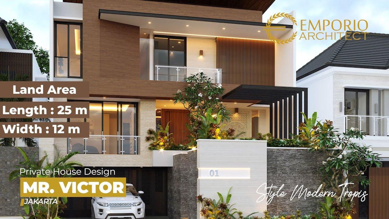 Video 3D Desain Rumah Modern 3 Lantai Bapak Victor di Jakarta