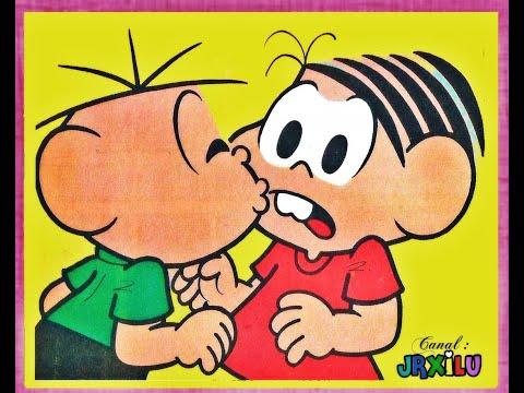 Mônica e Cebolinha em O vendedor de seguros - Gibis Quadrinhos Turma da Mônica