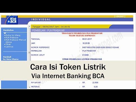 Cara Isi Token Listrik Via Internet Banking BCA