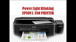 Power Light Blinking EPSON L 380 PRINTER  !! Adjustment Programe !!