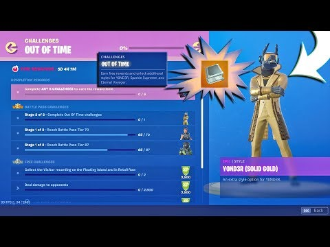 MenamesCho's LIVE 🔵 OUT OF TIME CHALLENGES YOND3R Solid Gold ⚡ Fortnite Battle Royale - 8th Oct 19