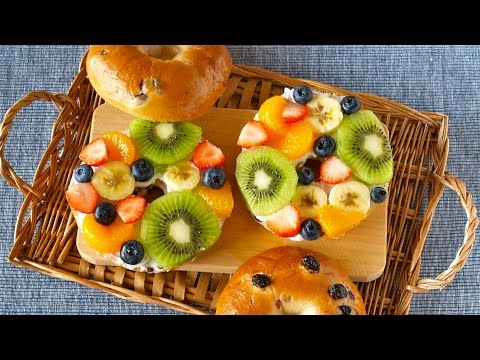 Fruit Open Sandwiches (Bagel Fruit Pizzas) ベーグルフルーツオープンサンドの作り方 – OCHIKERON – CREATE EAT HAPPY