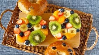 Fruit Open Sandwiches (Bagel Fruit Pizzas) ベーグルフルーツオープンサンドの作り方 – OCHIKERON – CREATE EAT HAPPY