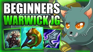 HOW TO PLAY WARWICK JUNGLE & GAIN ELO FOR BEGINNERS! - Best Build/Runes S+ Guide - League of Legends