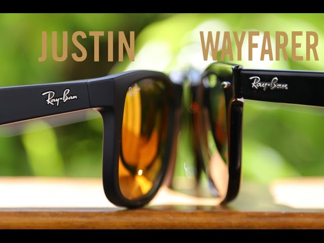 9742ef5ba6f good ray ban justin vs new wayfarer 9458b 99eb5