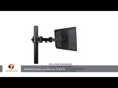 große Notebook / Tablet / Laptop - Halterung für alle VESA Monitorhalterungen / 35,5 x 30,0 cm /