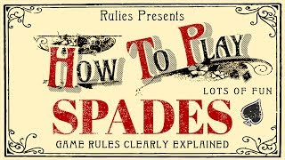 How to Play Spades (with 4 people, for beginners)