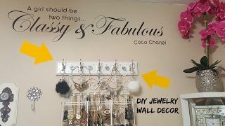 "DIY  ""BLING"" Jewelry Wall Decor"