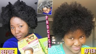 HOW TO SAFELY TEXTURIZE 4C NATURAL HAIR  - ORS OLIVE OIL TEXTURIZER