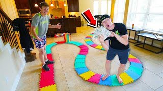WORLD'S BIGGEST GAMEBOARD! LOSER PAYS $10,000!