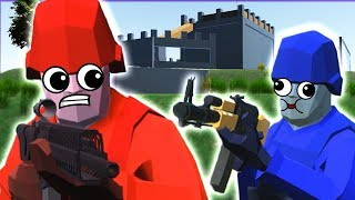 BATTLE FOR CASTLE ISLAND! 🏰 Ravenfield Custom Map Beta Gameplay 💥