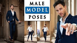 MALE MODEL POSES FOR PHOTOGRAPHY | How To Pose With A SUIT