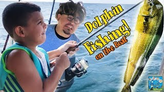 WE CAUGHT A DOLPHIN IN THE OCEAN! FISHING TRIP! DINGLEHOPPERZ