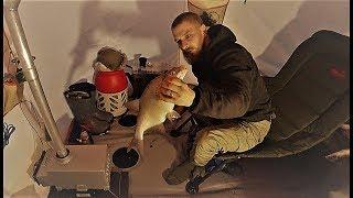Зимняя рыбалка с ночёвкой на двое суток. закрепляем результат