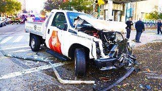 BREAKING: Truck Plows Into People By World Trade Center thumbnail