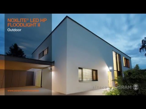 OSRAM NOXLITE LED FLOODLIGHT II: Modern floodlights with high-power LED