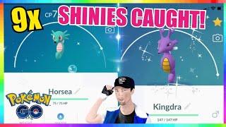 Horsea  - (Pokémon) - NEW SHINY HORSEA RELEASE! 9x SHINIES CAUGHT in Pokemon Go!