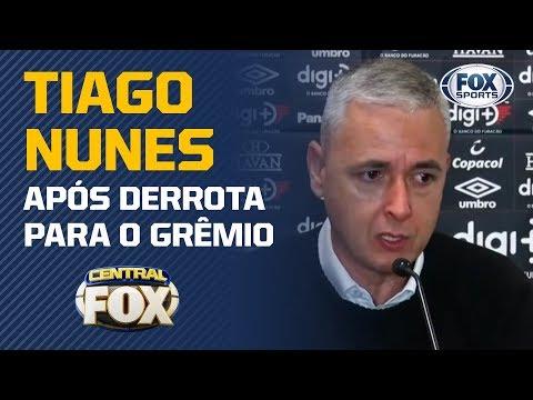 """""""NÓS PERDEMOS MUITOS DUELOS INDIVIDUAIS HOJE"""", Diz Tiago Nunes após derrota para o Grêmio"""