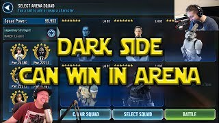 Star Wars: Galaxy Of Heroes - Dark Side Can Win In Arena