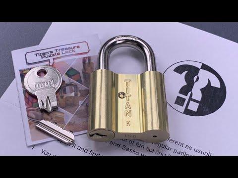 Titan's Treasure PUZZLE Lock Solved - LockPickingLawyer