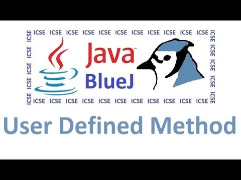 Main Method in Java & Creating User Defined Method Using BlueJ