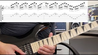How to play 'Sixpounder' by Children Of Bodom Guitar Solo Lesson w/tabs pt1