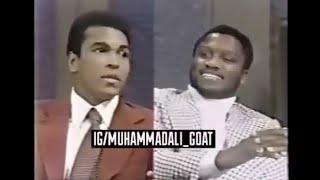 Rare - Muhammad Ali and Joe Frazier appear on same talk show - Part 1