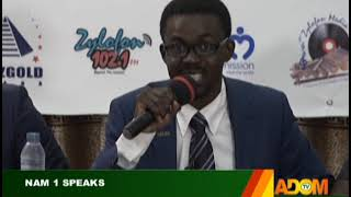 NAM 1 Speaks - Badwam on Adom TV (20-8-19)