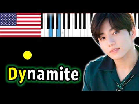 🇺🇸 BTS - Dynamite ((방탄소년단) ) | Piano_Tutorial | Разбор | КАРАОКЕ | НОТЫ + MIDI