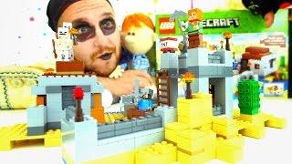 Строим замок Майнкрафт с Флинтом. Видео для детей с Lego