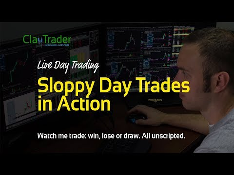 Live Day Trading: Sloppy Day Trades in Action