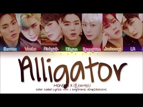 MONSTA X (몬스타엑스) - ALLIGATOR (Color Coded Lyrics Eng/Rom/Han/가사)