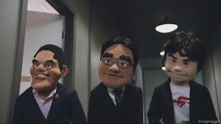 Nintendo E3 Intro - Muppet Iwata , Reggie  & Miyamoto - E3 2015 [ HD ]
